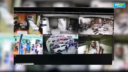 CCTV footage show situation during magnitude 6.6 quake in Davao Agriculture dep't office