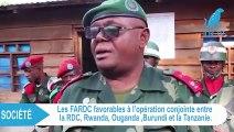 Mutualisation des armées de la RDC, du Rwanda, l'Ouganda, le Burundi et la Tanzanie
