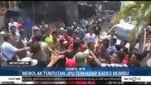 Warga Anti Kades Mumbu Bentrok di Kejaksaan Negeri Dompu