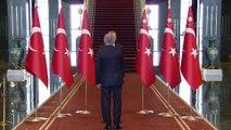 Cumhurbaşkanı Erdoğan, Cumhurbaşkanlığı Külliyesi'nde tebrikleri kabul etti (3) - ANKARA