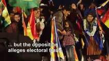 Bolivian President Evo Morales holds victory rally as clashes break out in Bolivia