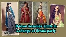 #Lehengalove| From Kareena to Katrina, B-town beauties sizzle in Lehenga at Diwali party