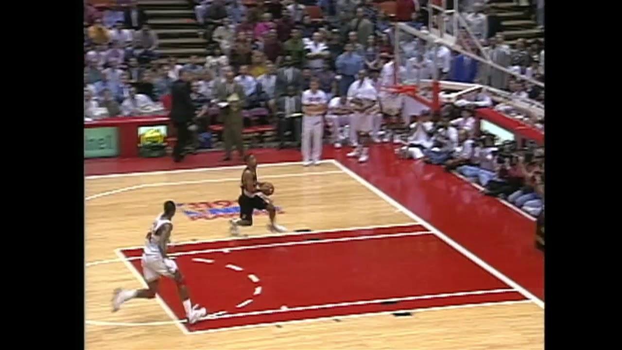 1994 NBA Playoffs - Hakeem Olajuwon'dan Harika Bir Blok!
