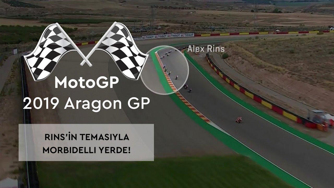 Rins'in Temasıyla Morbidelli Yerde! (MotoGP 2019 - Aragon Grand Prix)