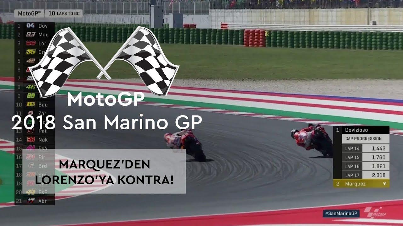 Marquez'den Lorenzo'ya Kontra! (2018 MotoGP - San Marino Grand Prix)