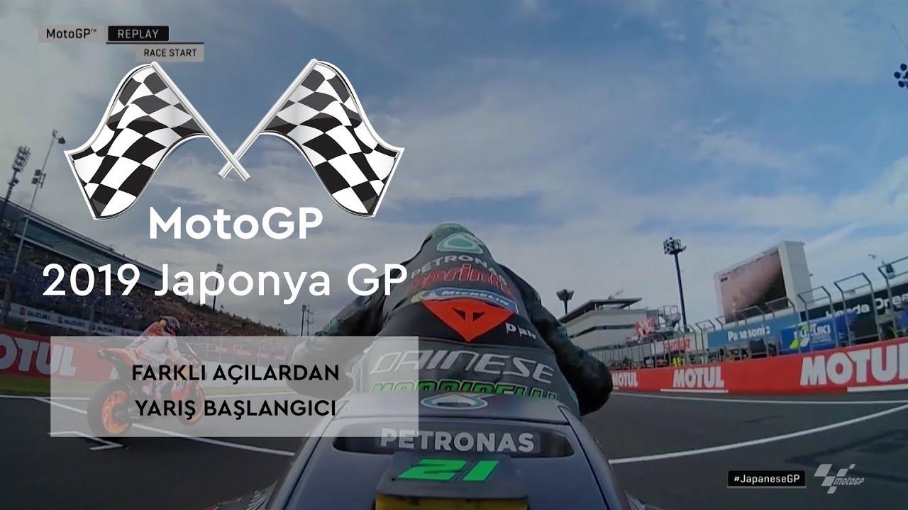 Farklı Açılardan Yarış Başlangıcı (MotoGP 2019 - Japonya Grand Prix)