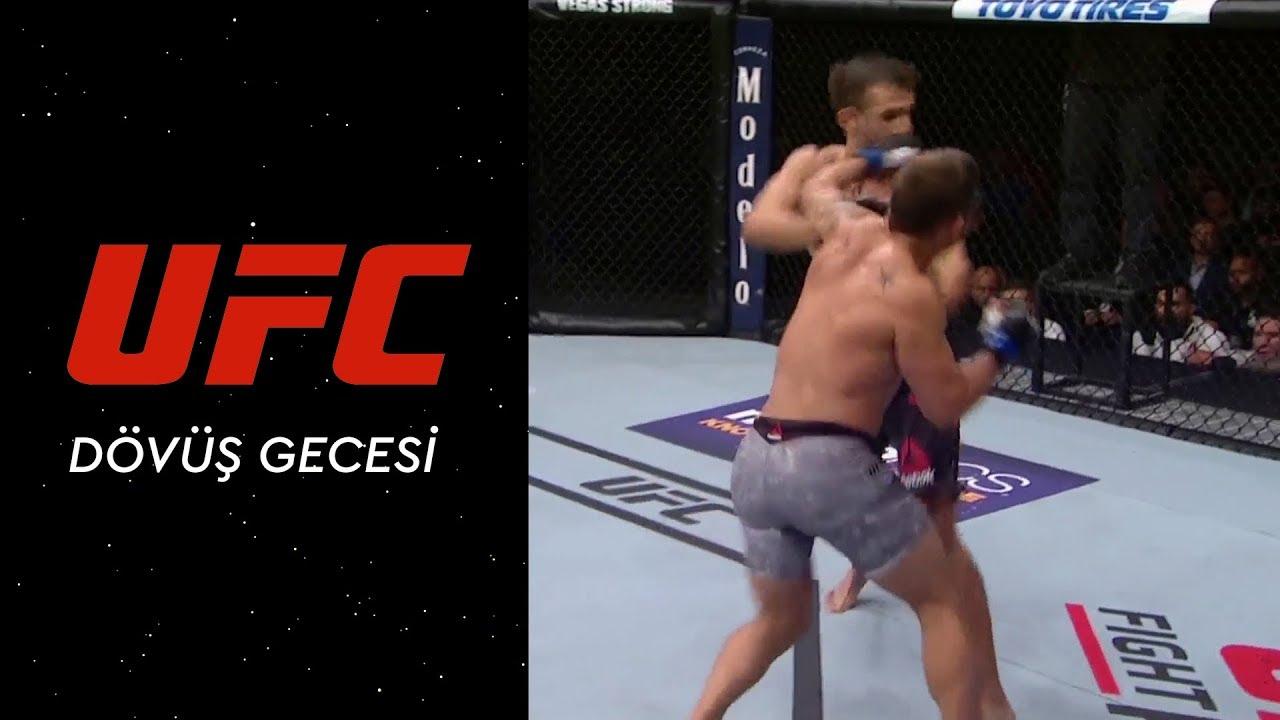 UFC Dövüş Gecesi | Mendes'ten Jury'e Güçlü Bir Sol Kroşe!