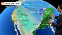 Storms may disrupt trick-or-treating on Halloween