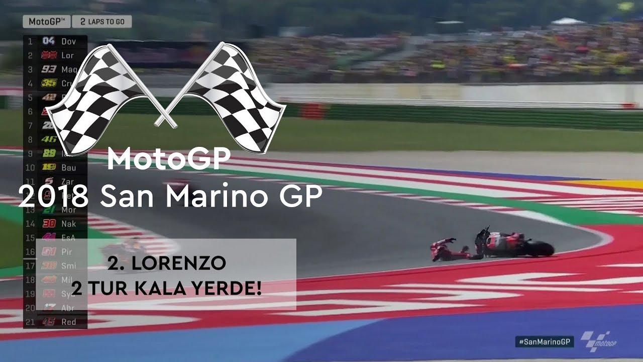 2. Lorenzo, 2 Tur Kala Yerde! (2018 MotoGP - San Marino Grand Prix)