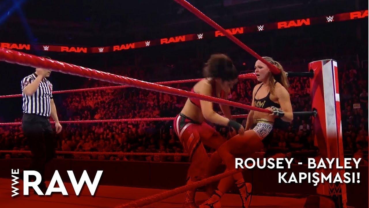 WWE Raw | Ronda Rousey - Bayley Kapışması! (Türkçe Anlatım)
