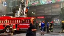 Los disturbios en Chile acaban en un gran incendio en el centro de Santiago