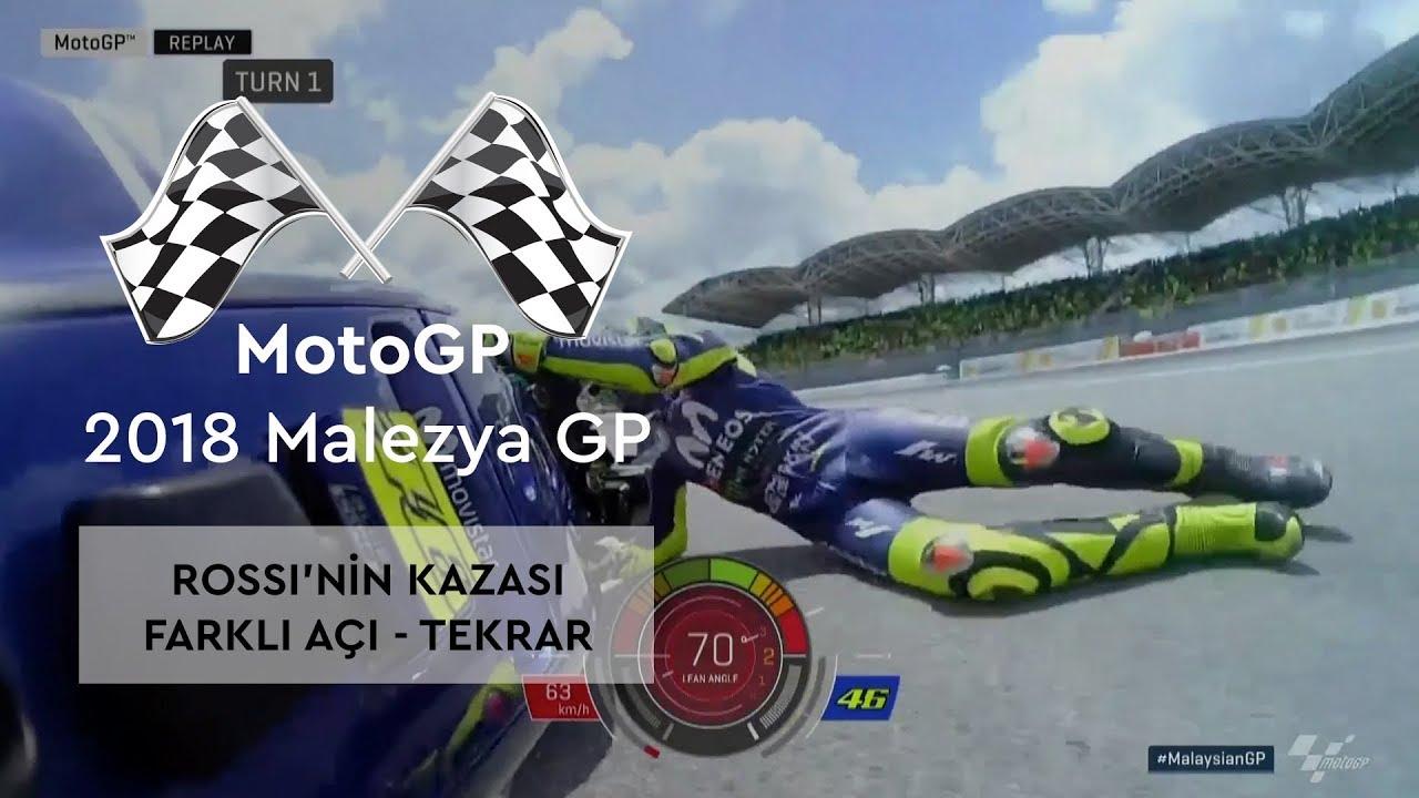 Rossi'nin Kazası | Farklı Açı - Tekrar (MotoGP 2018 - Malezya Grand Prix)