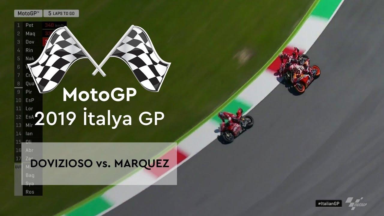 Dovizioso vs. Marquez (MotoGP 2019 - İtalya Grand Prix)