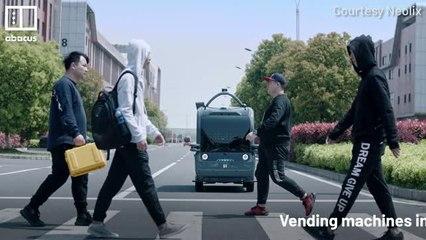 China's self-driving vending machine