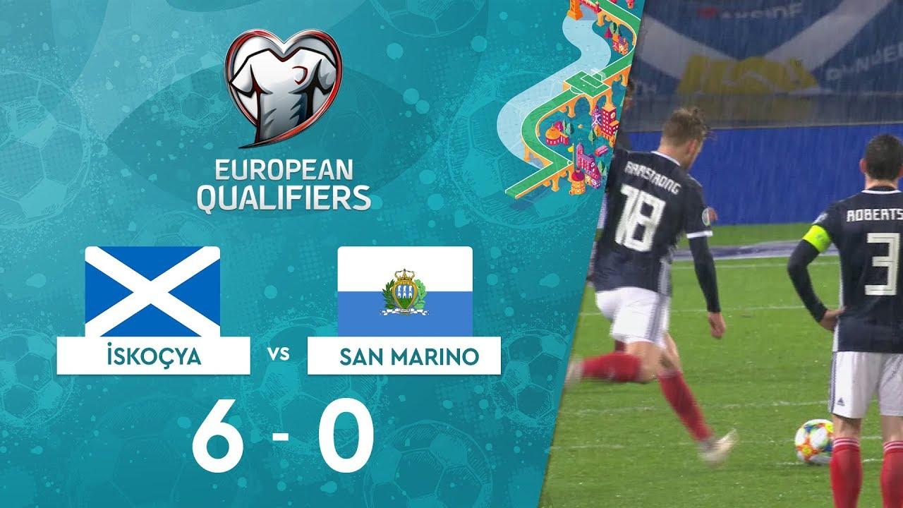 İskoçya 6-0 San Marino | EURO 2020 Elemeleri Maç Özeti - I Grubu