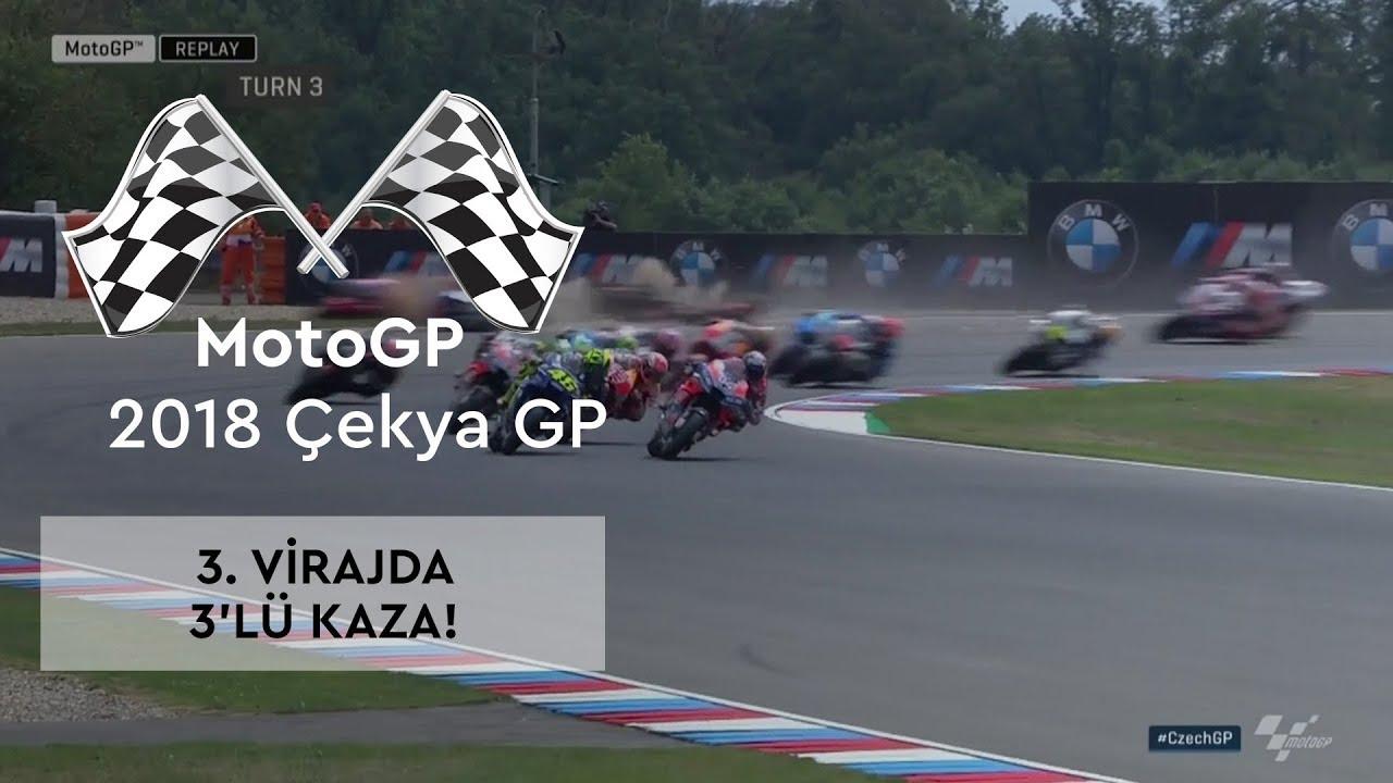 3. Virajda 3'lü Kaza! (2018 MotoGP - Çek Cumhuriyeti Grand Prix)
