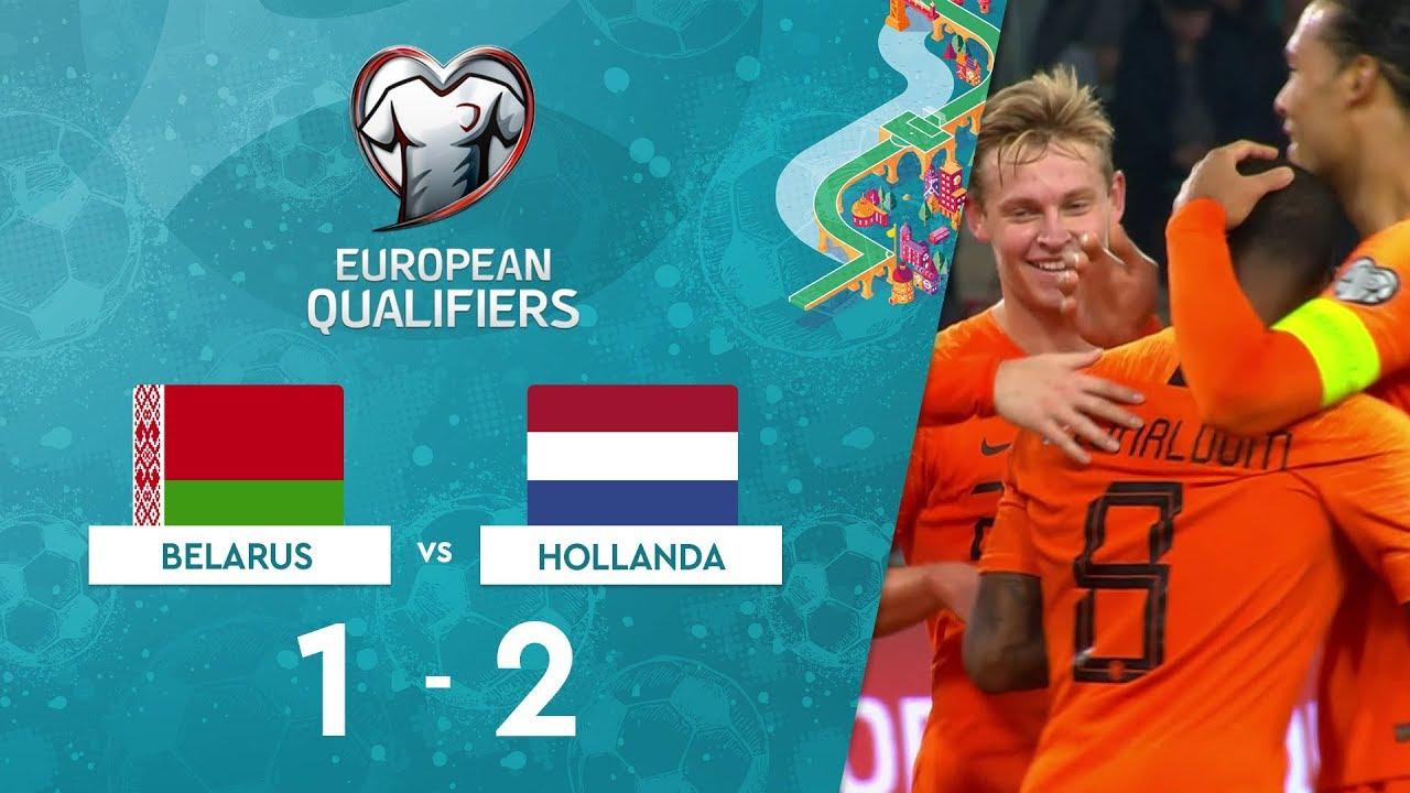 Belarus 1-2 Hollanda | EURO 2020 Elemeleri Maç Özeti - C Grubu