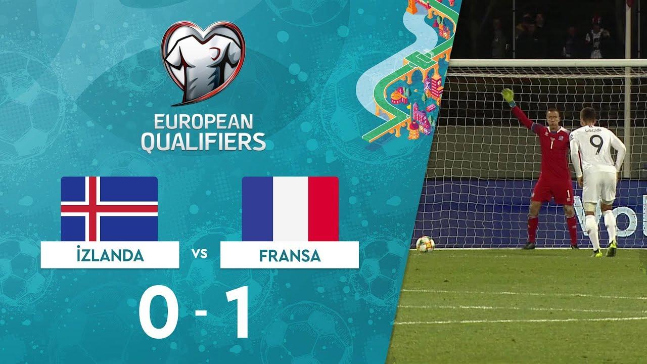 İzlanda  0-1 Fransa |  EURO 2020 Elemeleri Maç Özeti - H Grubu