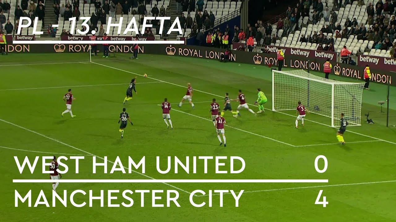 West Ham United - Manchester City (0-4) - Maç Özeti - Premier League 2018/19