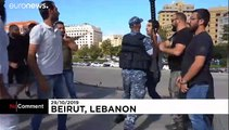 Hezbollah supporters attack anti-government protest site in Beirut