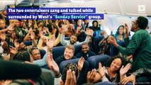 Kanye West and James Corden Do 'Carpool Karaoke' on an Airplane