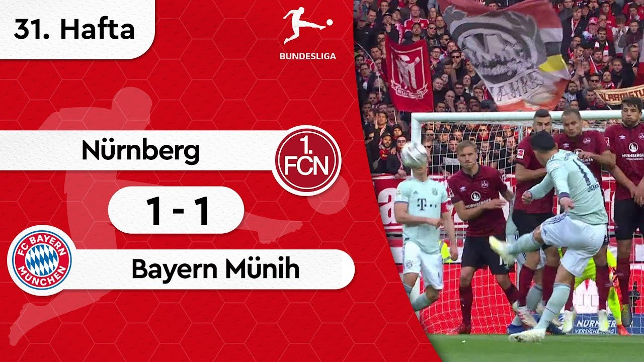 Nürnberg - Bayern Münih (1-1) - Maç Özeti - Bundesliga 2018/19