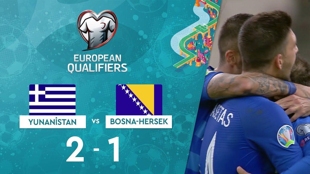 Yunanistan 2-1 Bosna-Hersek | EURO 2020 Elemeleri Maç Özeti - J Grubu