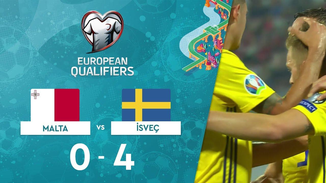 Malta 0-4 İsveç | EURO 2020 Elemeleri Maç Özeti - F Grubu
