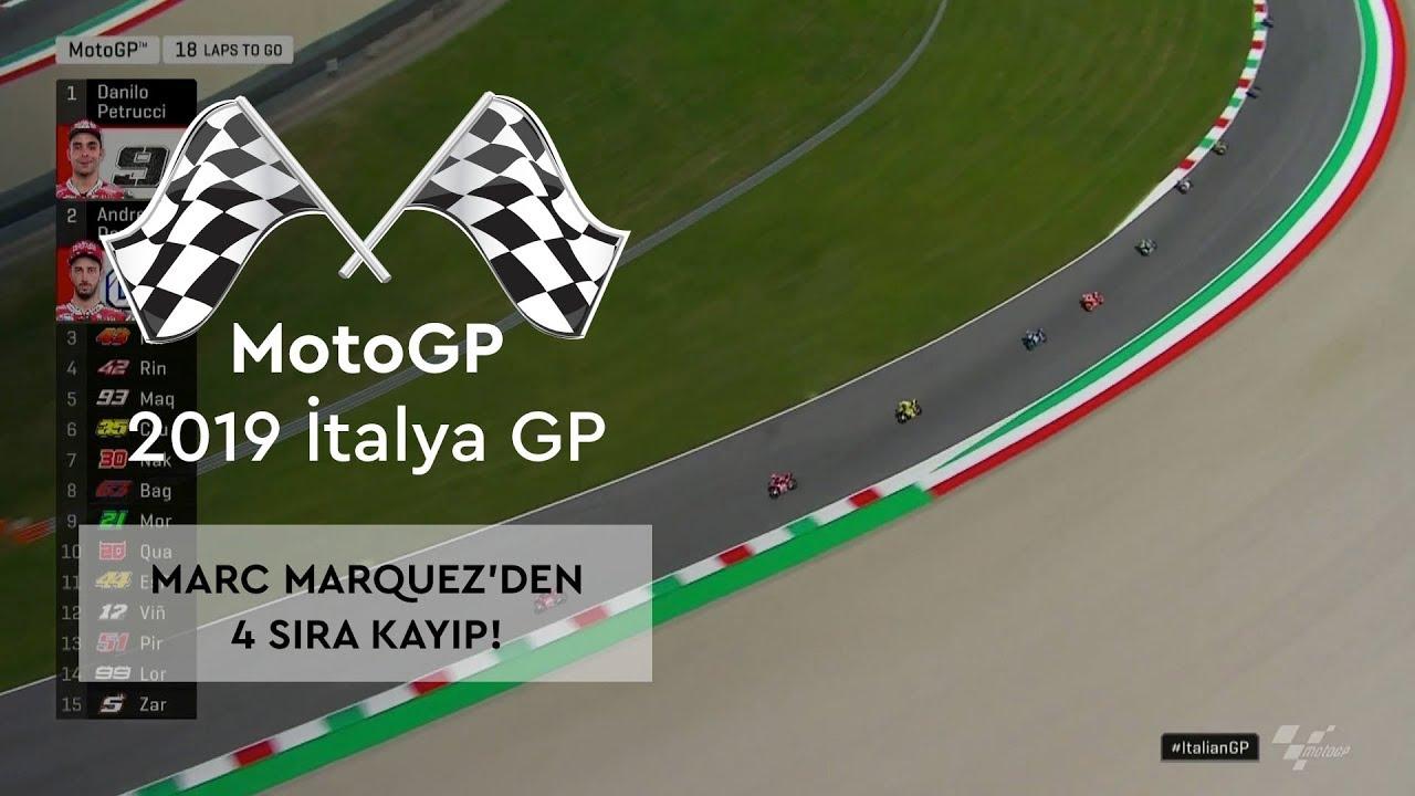 Marquez'den 4 Sıra Kayıp! (MotoGP 2019 - İtalya Grand Prix)