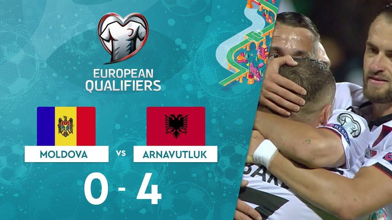 Moldova 0-4 Arnavutluk | EURO 2020 Elemeleri Maç Özeti - H Grubu