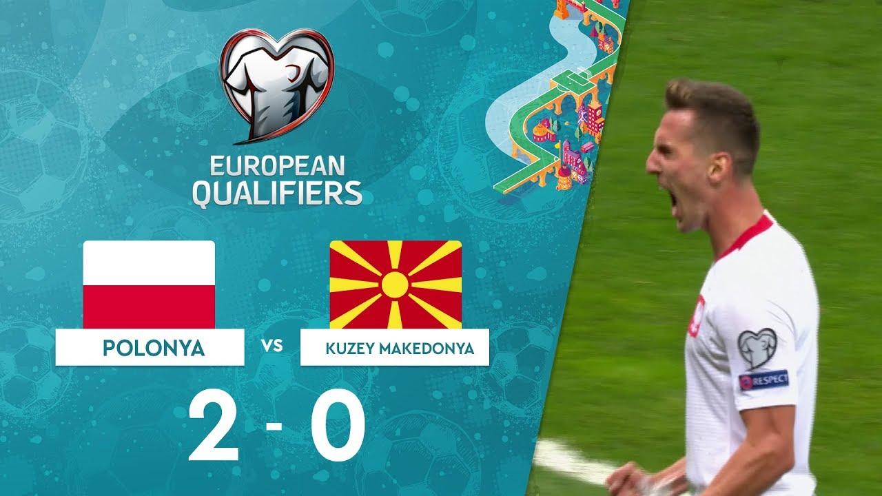 Polonya 2-0 Kuzey Makedonya | EURO 2020 Elemeleri Maç Özeti - G Grubu