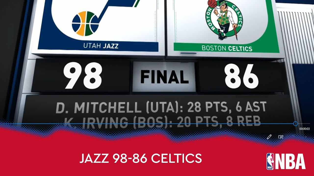 Utah Jazz 98-86 Boston Celtics