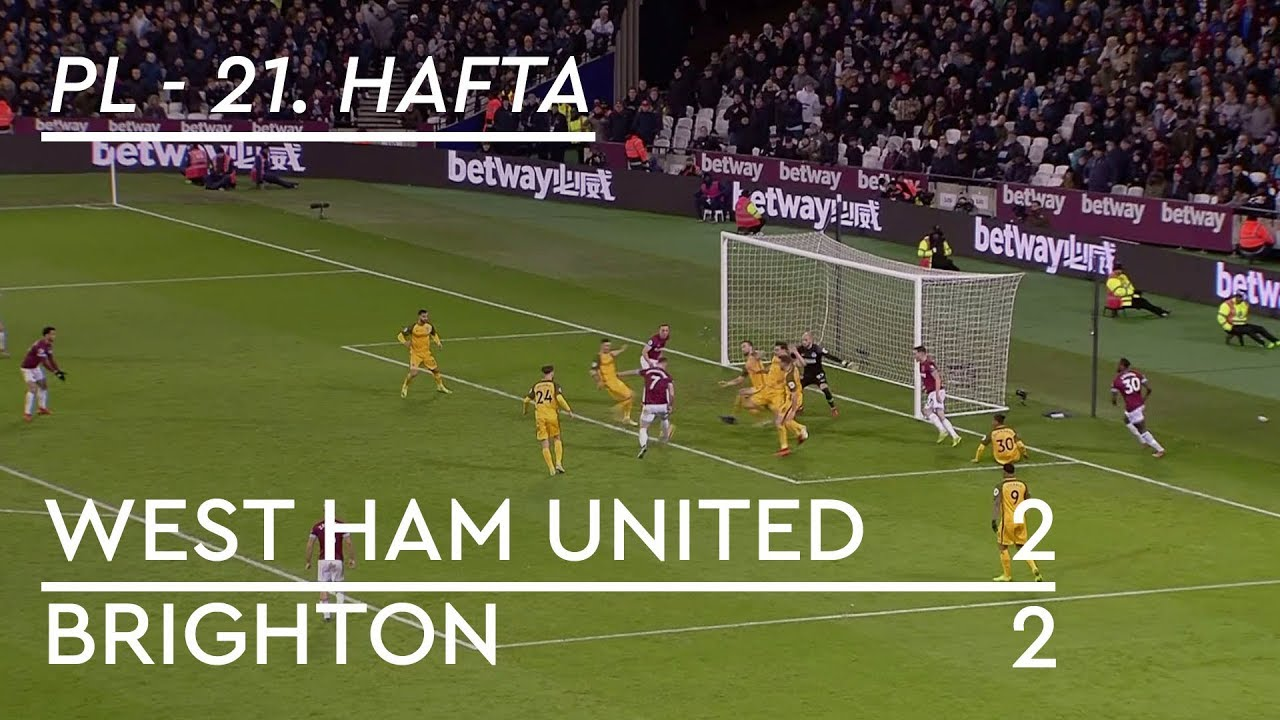 West Ham - Brighton (2-2) - Maç Özeti - Premier League 2018/19