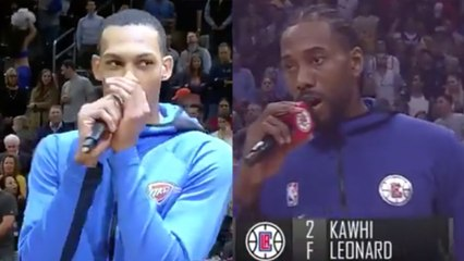 "Kawhi Leonard Reacts To OKC Rookie Darius Bazley Mocking Him ""People Love Me I Guess"""
