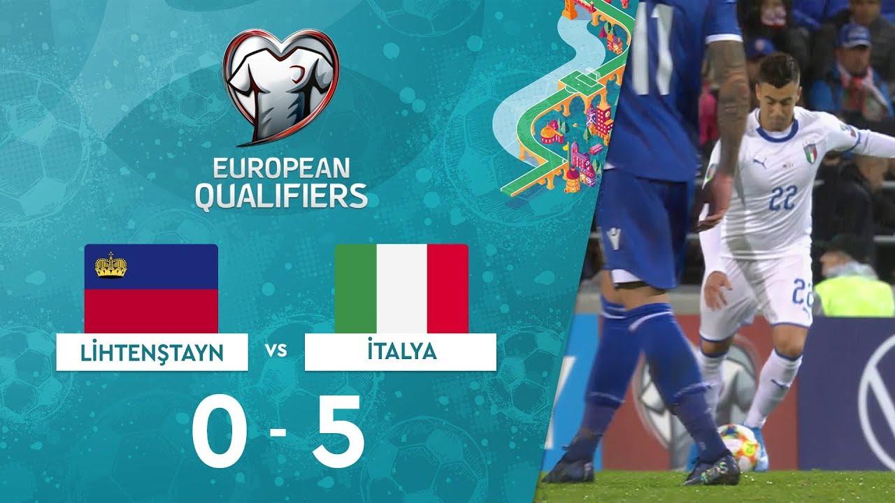 Lihtenştayn 0-5 İtalya | EURO 2020 Elemeleri Maç Özeti - J Grubu