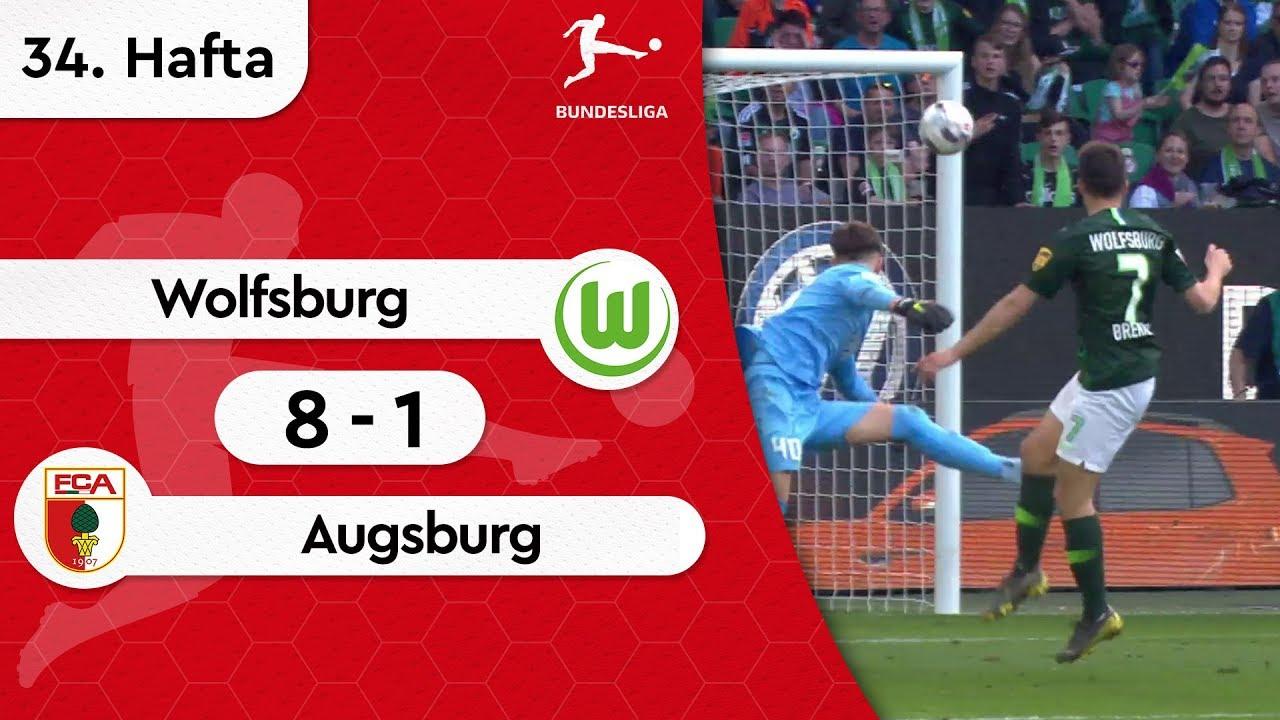 Wolfsburg - Augsburg (8-1) - Maç Özeti - Bundesliga 2018/19