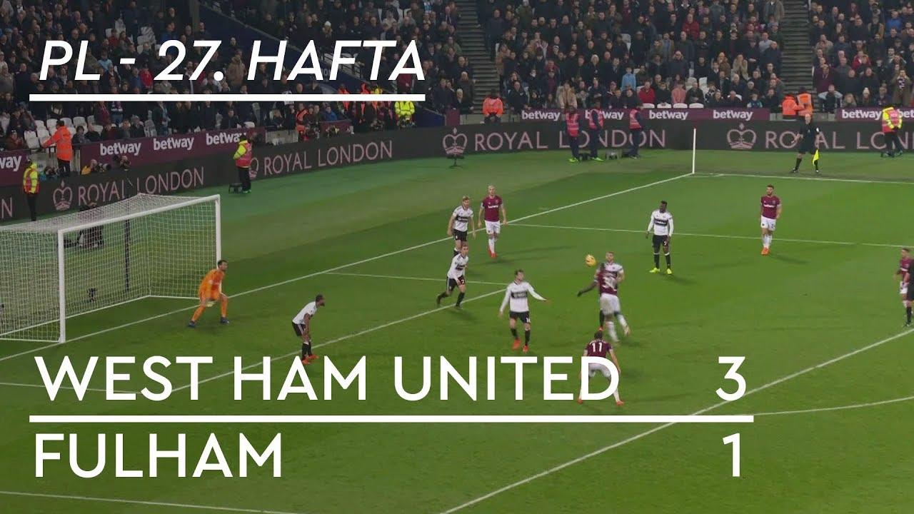 West Ham United - Fulham  (3-1) -  Maç Özeti - Premier League 2018/19