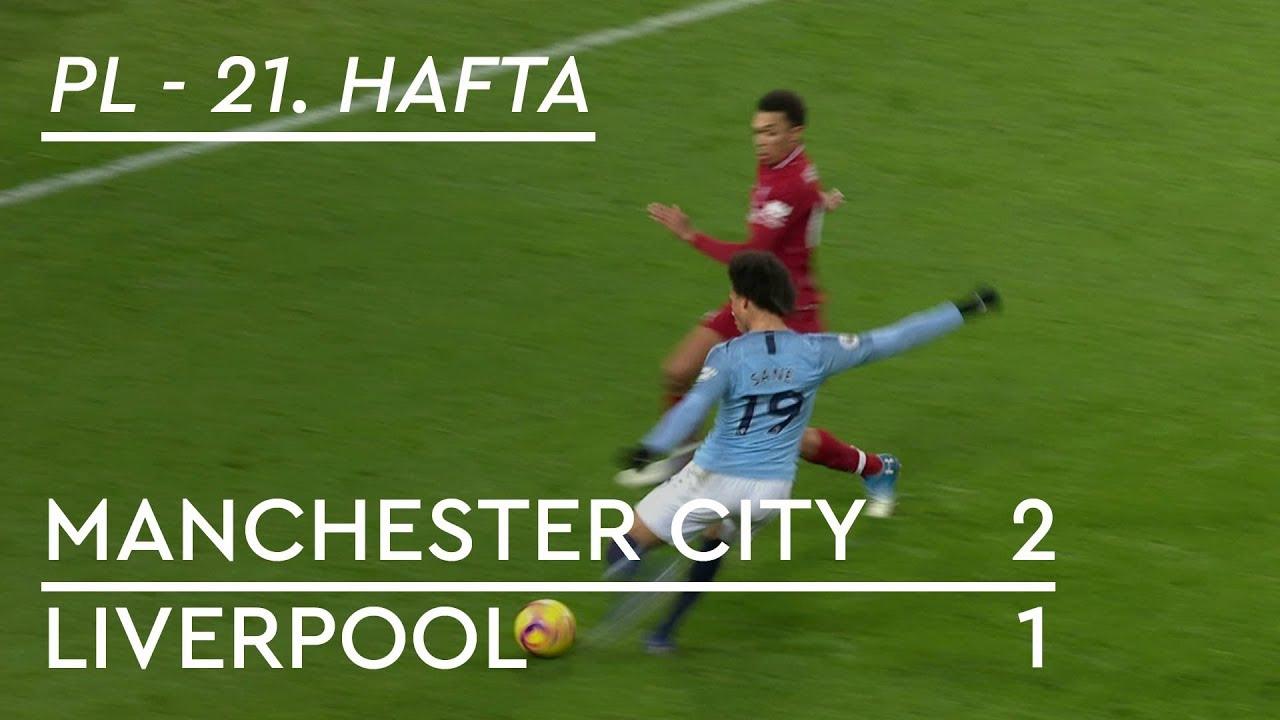 Manchester City - Liverpool (2-1) - Maç Özeti - Premier League 2018/19