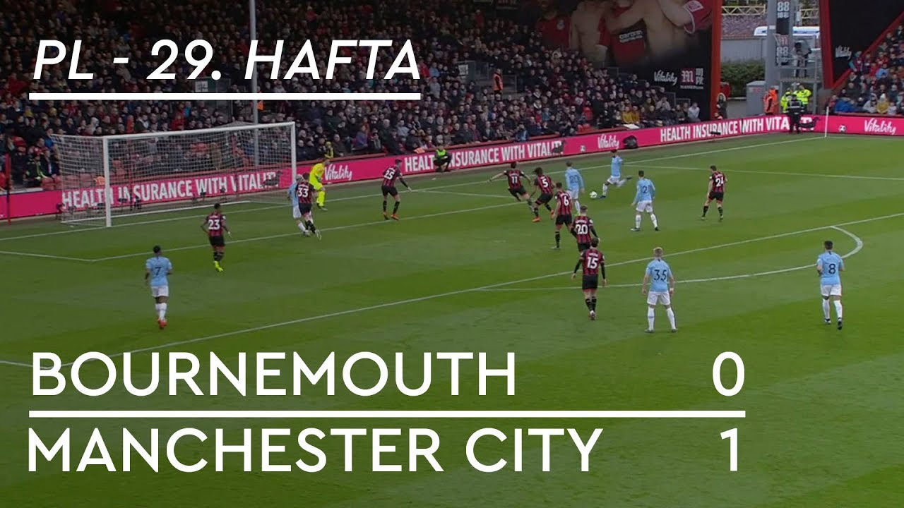 Bournemouth - Manchester City (0-1) - Maç Özeti - Premier League 2018/19