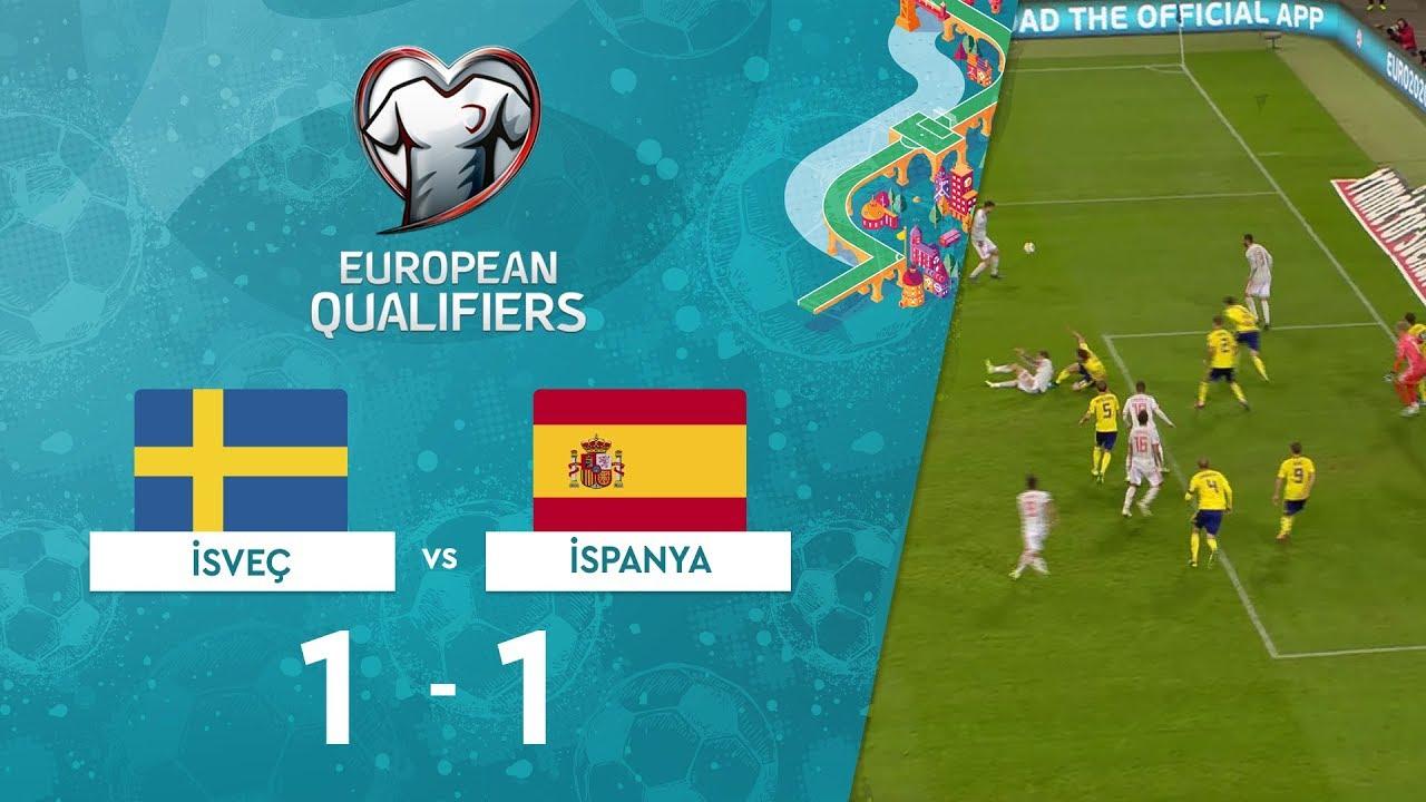 İsveç 1-1 İspanya | EURO 2020 Elemeleri Maç Özeti - F Grubu