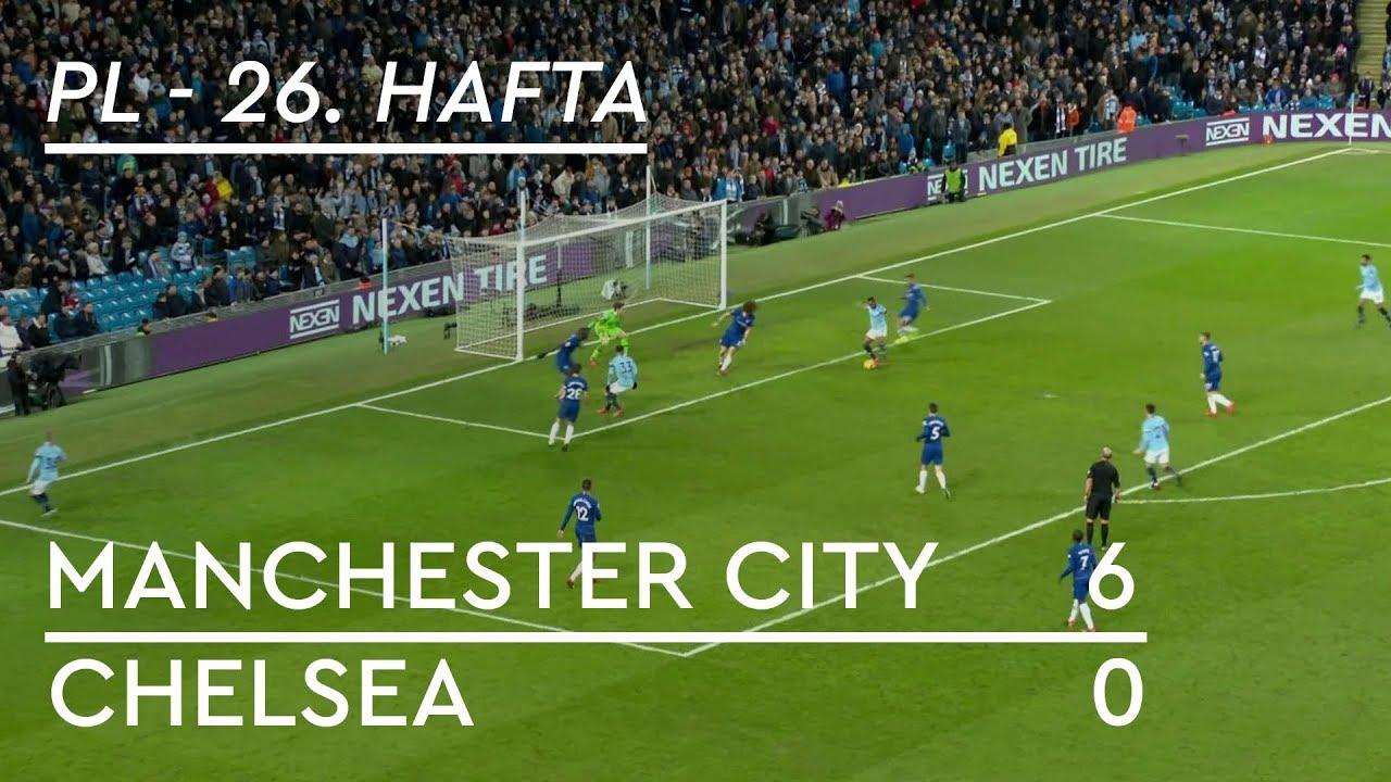 Manchester City - Chelsea (6-0) - Maç Özeti - Premier League 2018/19