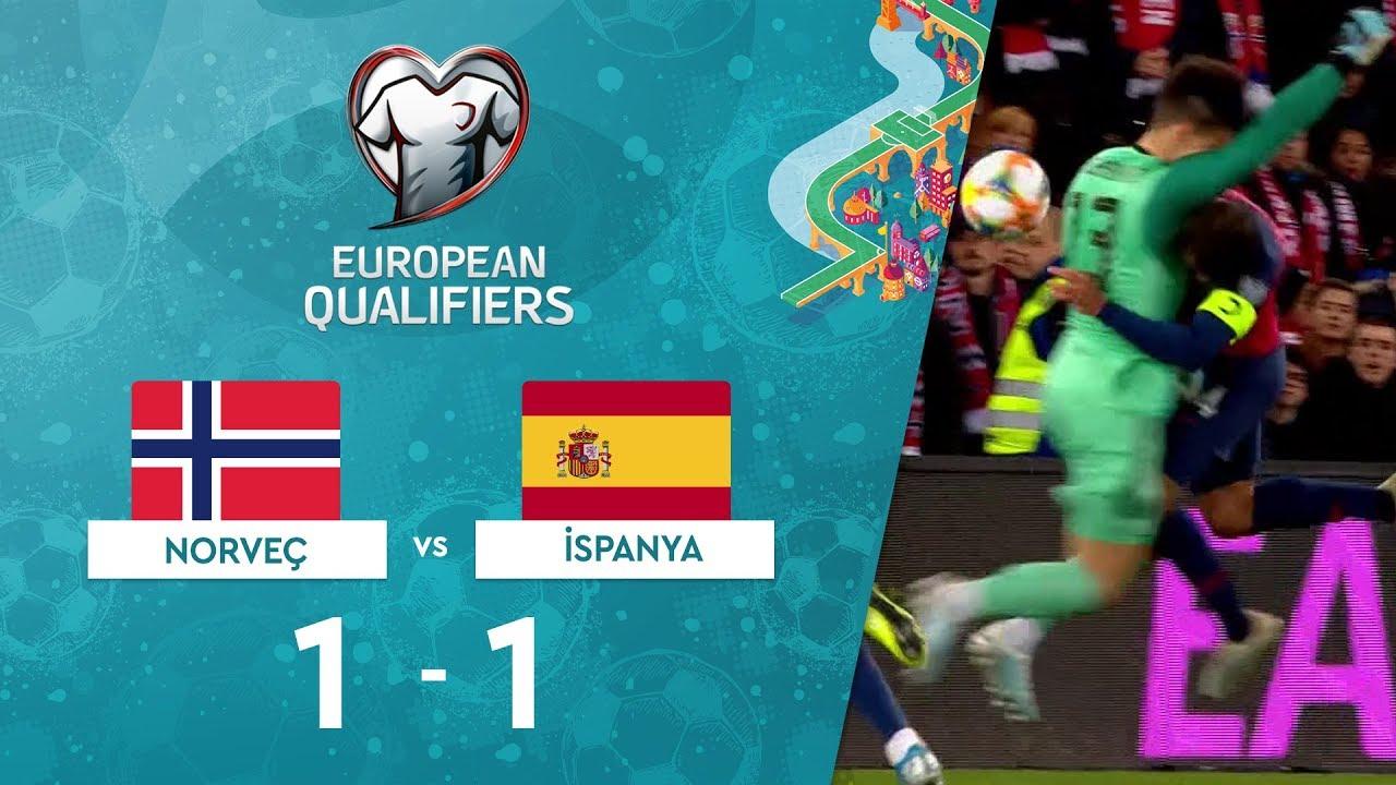 Norveç 1-1 İspanya | EURO 2020 Elemeleri Maç Özeti - F Grubu