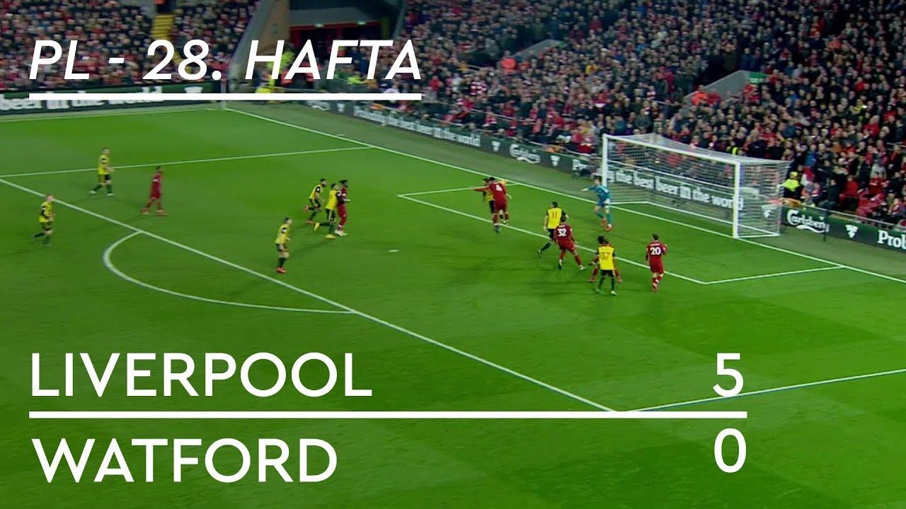 Liverpool - Watford (5-0) - Maç Özeti - Premier League 2018/19