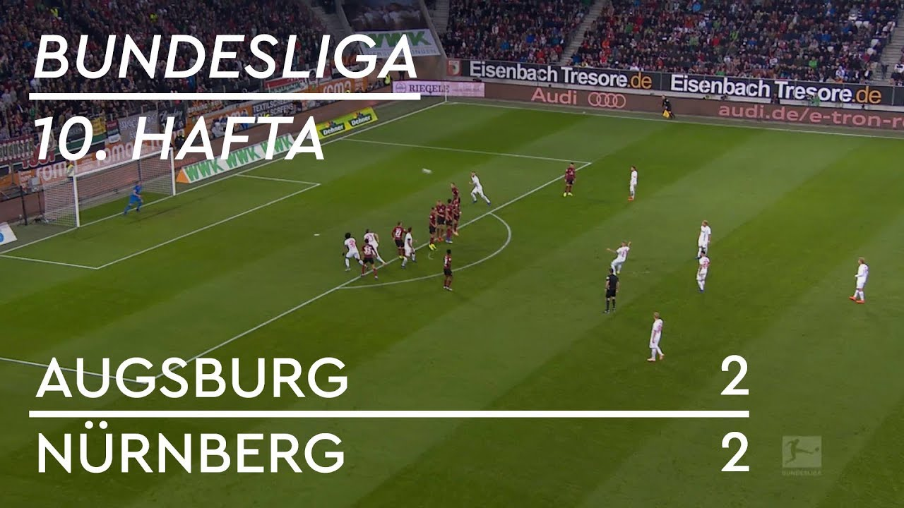 Augsburg - Nürnberg (2-2) - Maç Özeti - Bundesliga 2018/19