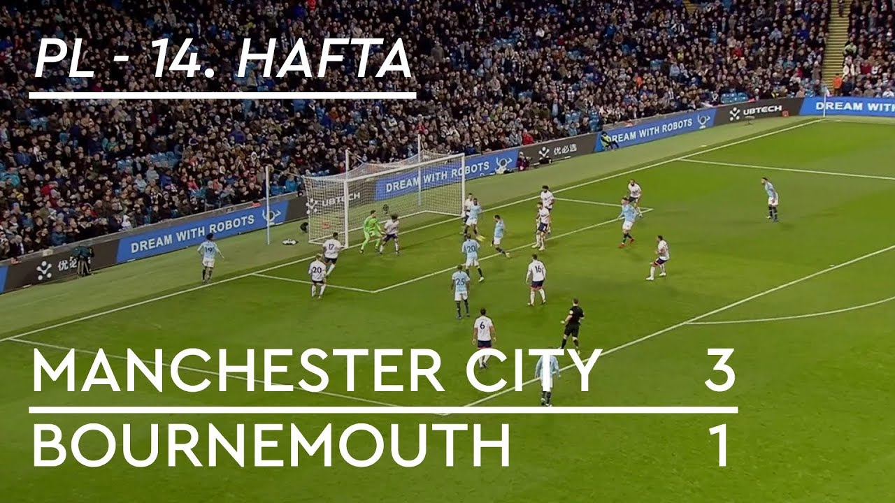 Manchester City - Bournemouth (3-1) - Maç Özeti - Premier League 2018/19