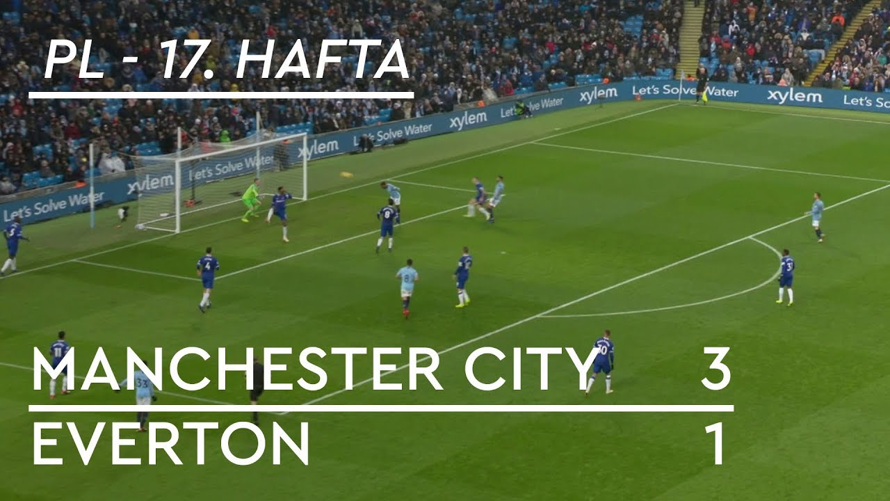 Manchester City - Everton (3-1) - Maç Özeti - Premier League 2018/19