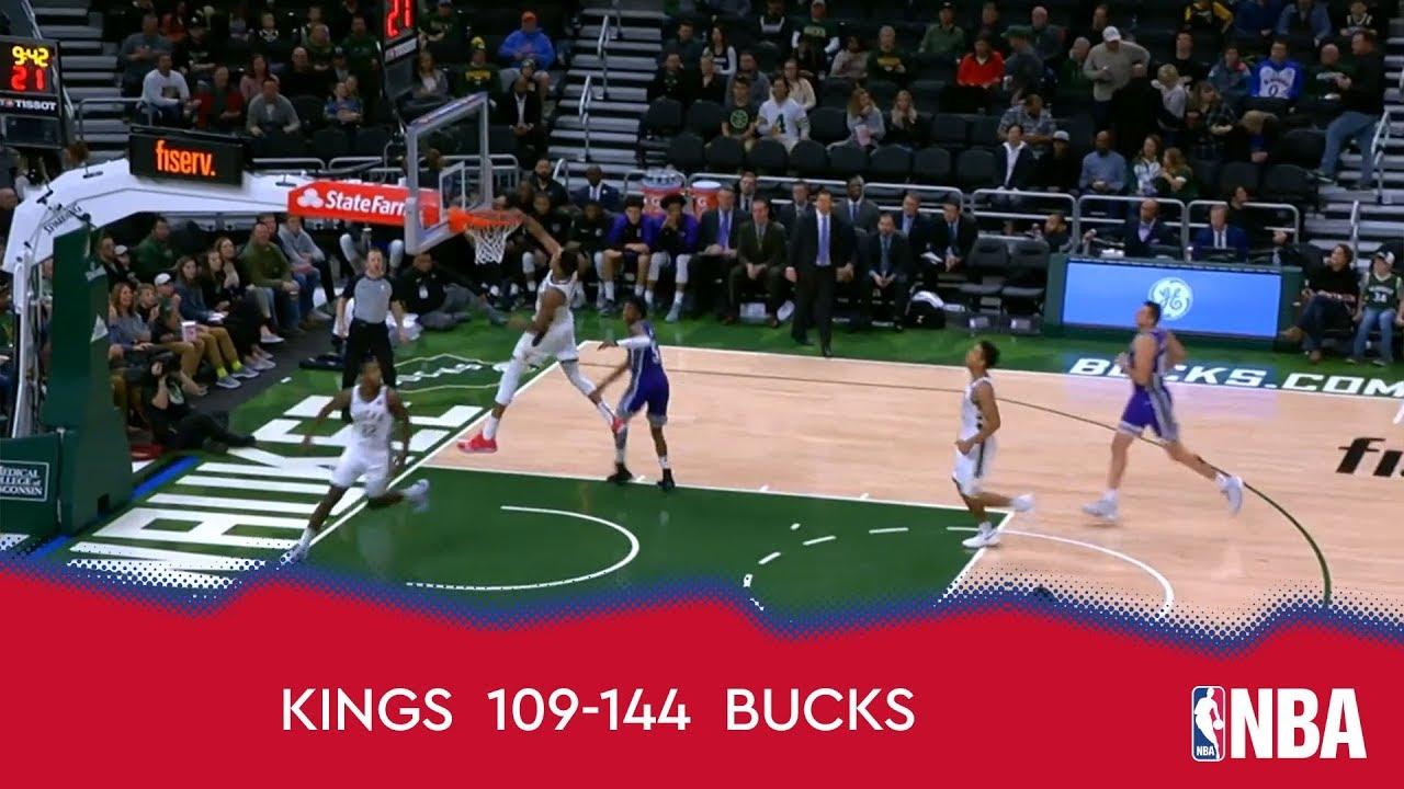 Sacramento Kings 109-144 Milwaukee Bucks