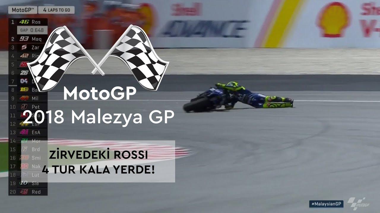 Zirvedeki Rossi, 4 Tur Kala Yerde! (MotoGP 2018 - Malezya Grand Prix)