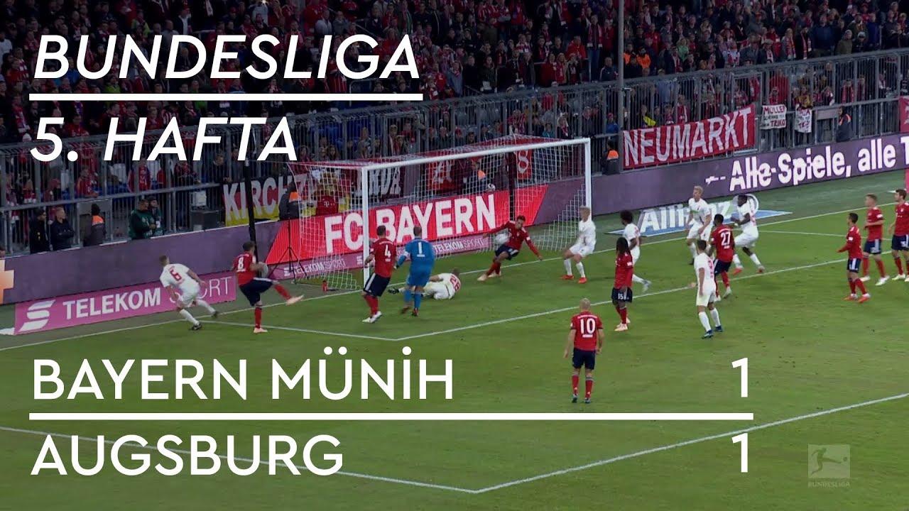 Bayern Münih - Augsburg (1-1) - Maç Özeti - Bundesliga 2018/19
