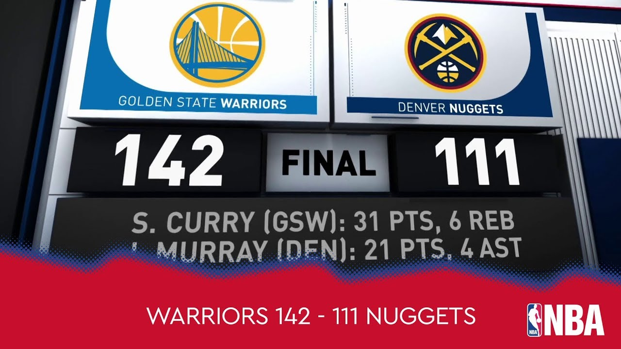 Golden State Warriors 142 - 111 Denver Nuggets